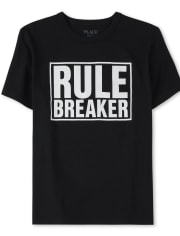 Boys Dad And Me Rule Breaker Matching Graphic Tee