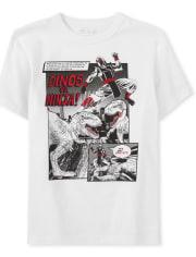 Boys Dino Ninja Comic Graphic Tee