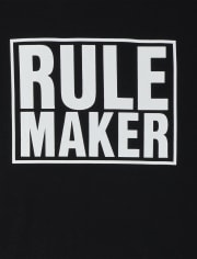 T-shirt graphique assorti Dad And Me Rule Maker pour homme
