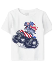 Baby And Toddler Boys Americana Monster Truck Dino Graphic Tee