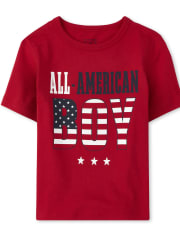Baby And Toddler Boys Matching Family Americana All American Graphic Tee