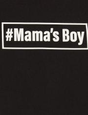 Camiseta estampada para bebés y niños pequeños Mama ' s Boy