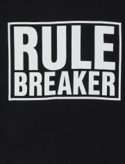 Baby And Toddler Boys Rule Breaker Graphic Tee