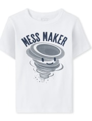 Baby And Toddler Boys Mess Maker Graphic Tee
