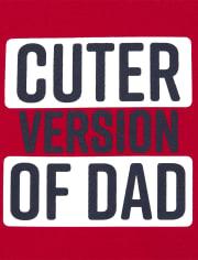 Camiseta estampada de papá para bebés y niños pequeños