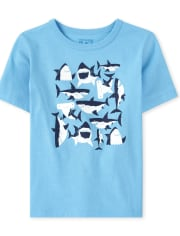 Baby And Toddler Boys Shark Graphic Tee