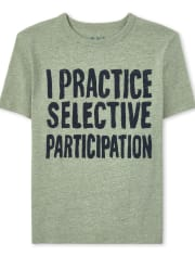 Boys Selective Participation Graphic Tee