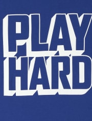 Boys Play Hard Graphic Tee