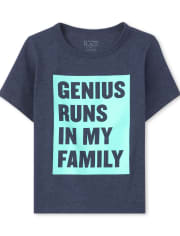 Baby And Toddler Boys Family Genius Graphic Tee