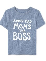 Baby And Toddler Boys Mom's The Boss Graphic Tee