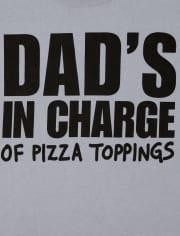 Camiseta con gráfico Dad ' s In Charge para niños