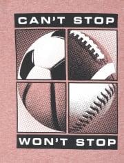 Camiseta estampada deportiva para niños
