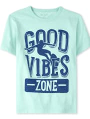 Camiseta estampada Good Vibes para niño