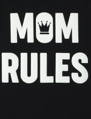 Baby And Toddler Boys Mom Rules Graphic Tee