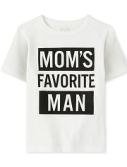 Baby And Toddler Boys Mom's Favorite Graphic Tee
