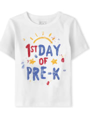 Toddler Boys First Day Of Pre K Graphic Tee