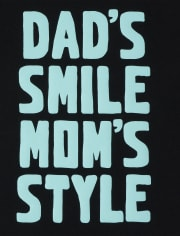 Baby And Toddler Boys Dad And Mom Graphic Tee