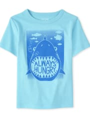 Baby And Toddler Boys Hungry Shark Graphic Tee