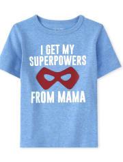 Camiseta estampada Mama Superpower para bebés y niños pequeños