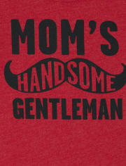Baby And Toddler Boys Mom's Gentleman Graphic Tee