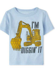 Baby And Toddler Boys Diggin It Graphic Tee