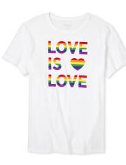 Unisex Adult Matching Family Rainbow Love Graphic Tee