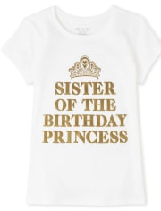 Girls Foil Sister Graphic Tee