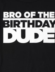 Boys Matching Family Birthday Graphic Tee
