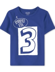 Baby And Toddler Boys Dude I'm 3 Graphic Tee