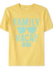 Camiseta estampada unisex para niños a juego Family Vacay 2020