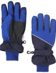 Boys Colorblock Ski Gloves