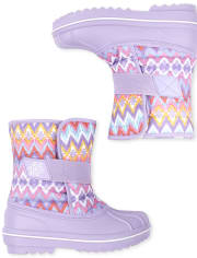 Girls Chevron Snow Boots
