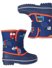 Toddler Boys Transportation Snow Boots