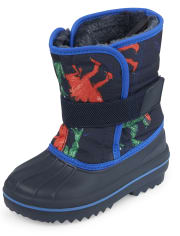 Toddler Boys Dino Snow Boots