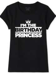 Girls Matching Family Birthday Graphic Tee