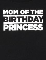 Camiseta estampada de cumpleaños familiar a juego para mujer