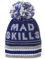 Boys Mad Skills Pom Pom Beanie