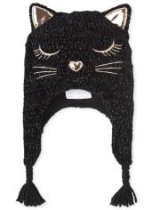 Girls Cat Chenille Hat