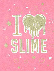 Pack de 3 camisetas estampadas Glitter Squishies para niñas