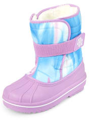 Girls Tie Dye Snow Boots