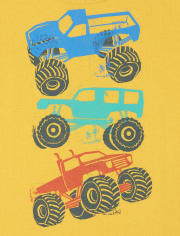 Baby And Toddler Boys Truck Graphic Tee 3-Pack