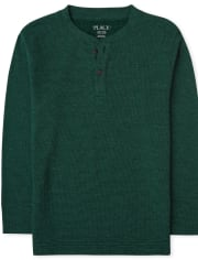 Boys Thermal Henley Top