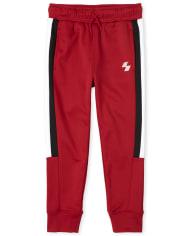 Pantalones Tipo Jogger De Rendimiento De Punto Con Rayas Laterales Place Sport Para Nino