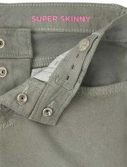Girls Step Hem Super Skinny Jeans