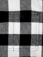 Mens Matching Family Buffalo Plaid Flannel Button Down Shirt