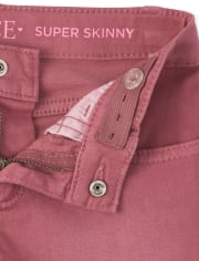 Girls Step Hem Super Skinny Jeans