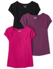 Girls Basic Layering Tee 3-Pack