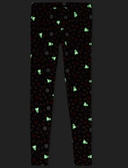 Womens Mommy And Me Halloween Glow Matching Leggings