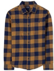 Mens Dad And Me Plaid Flannel Matching Button Down Shirt