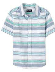 Camisa Oxford de Rayas con Botones para Niño